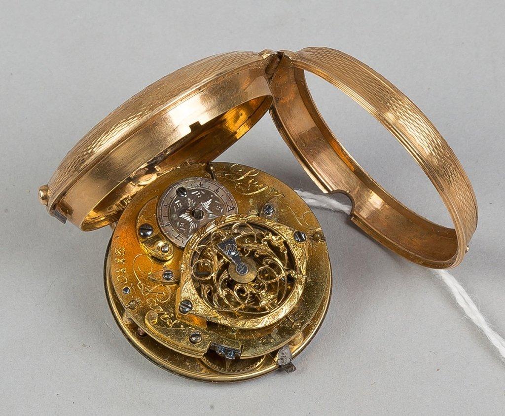 Berthonch, Paris 18k Gold Pocket Watch - 2