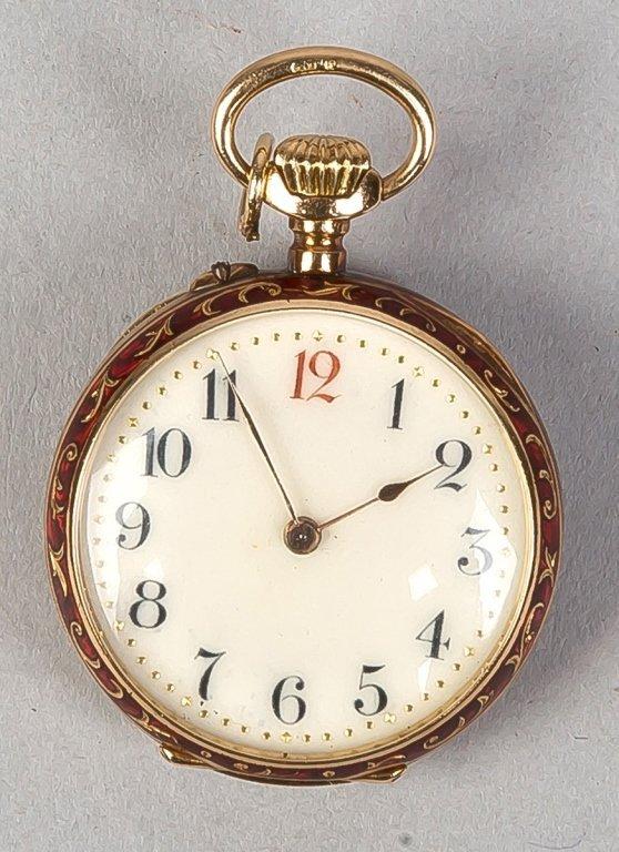 Ladies LaCoultre 18k Gold Pendant Watch