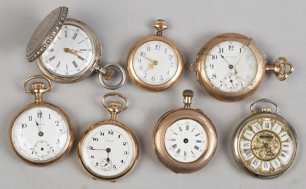 Group Gold Plated & Silver Ladies Pendant Watches