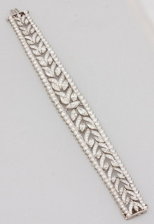 Marquis Diamond and Platinum Bracelet