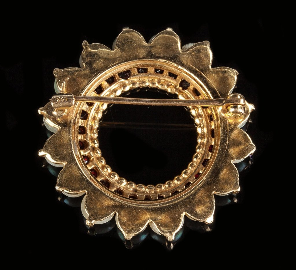 14K Gold & Pearl Brooch - 2