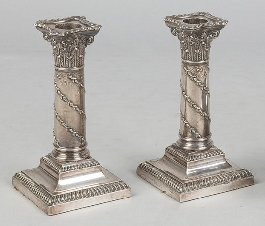 Silver Classical Candleholders