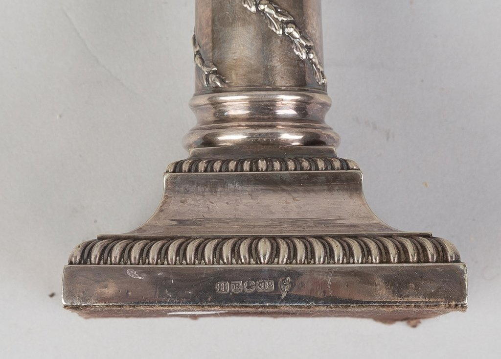 Silver Classical Candleholders - 2