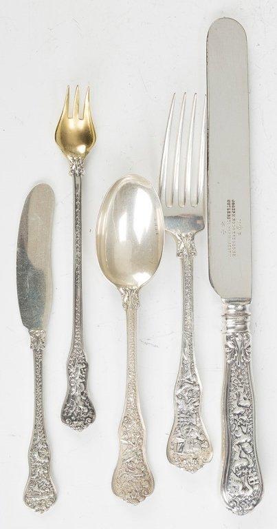 Tiffany Sterling Silver Flatware, Olympian Pattern