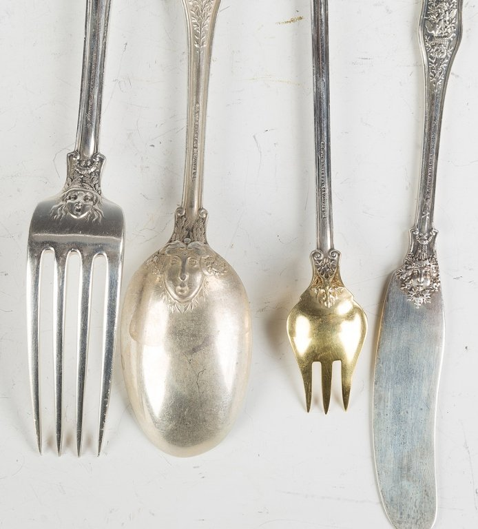 Tiffany Sterling Silver Flatware, Olympian Pattern - 2