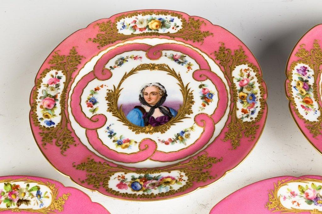 Sevres Hand Painted Porcelain Portrait Plates and - 4