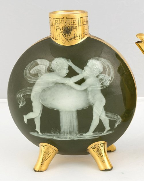 Pate-Sur-Pate Vase with Cherubs