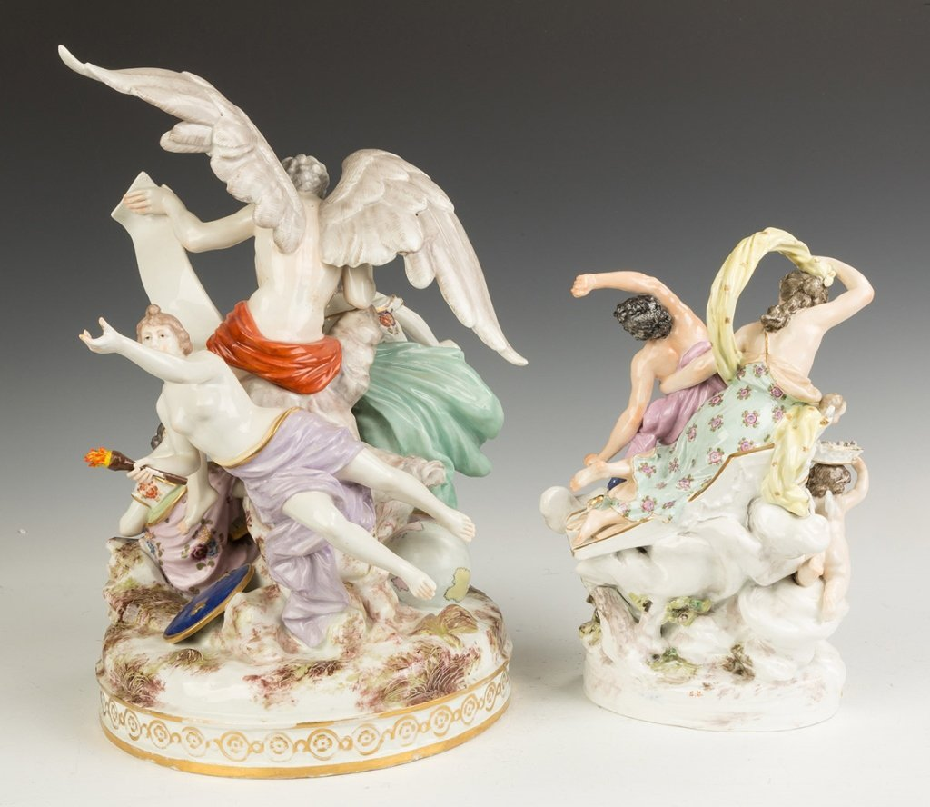 Two German Porcelain Figural Groups - 2