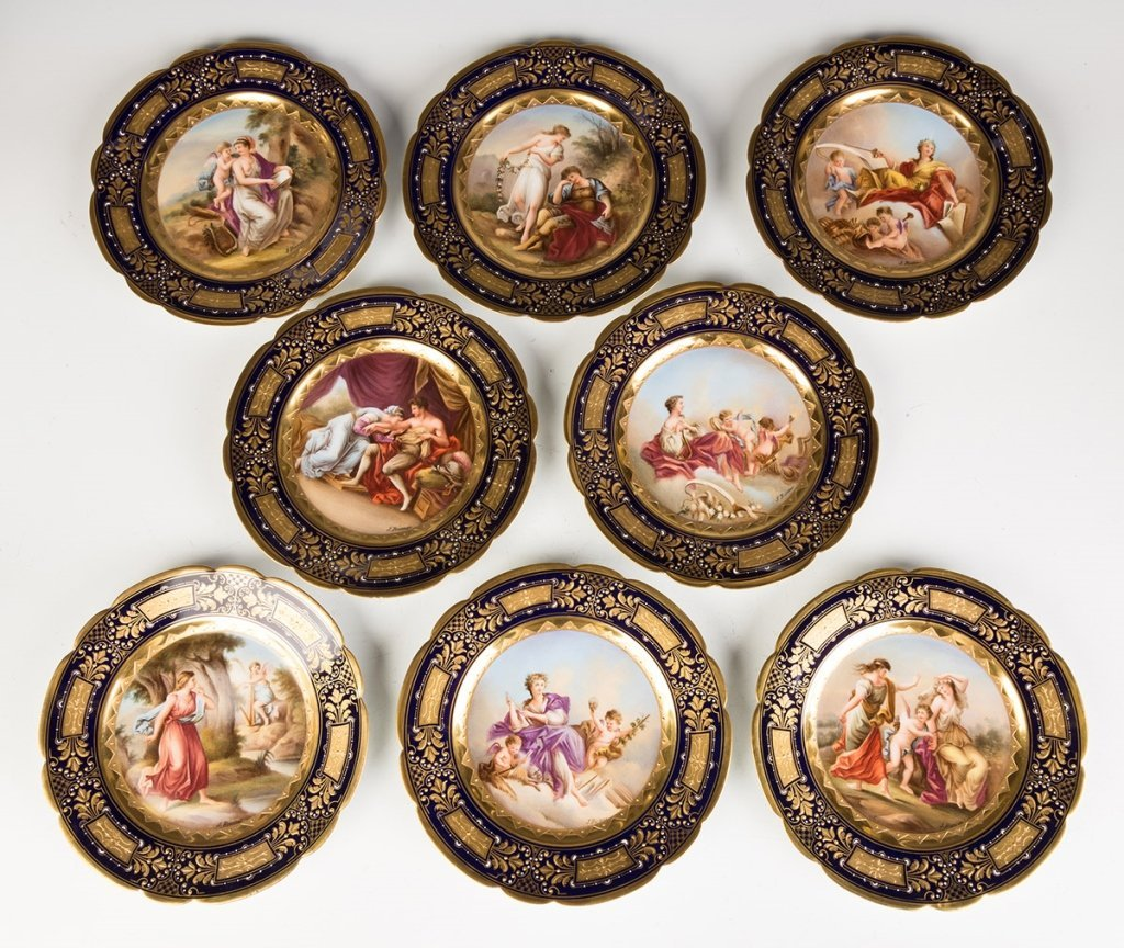 Vienna Porcelain Compotes and Plates