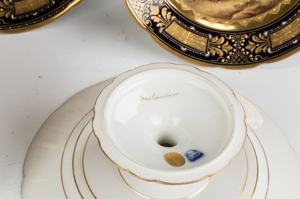 Vienna Porcelain Compotes and Plates - 3