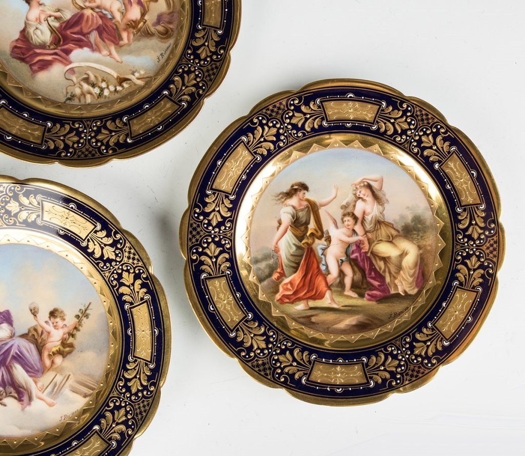 Vienna Porcelain Compotes and Plates - 4