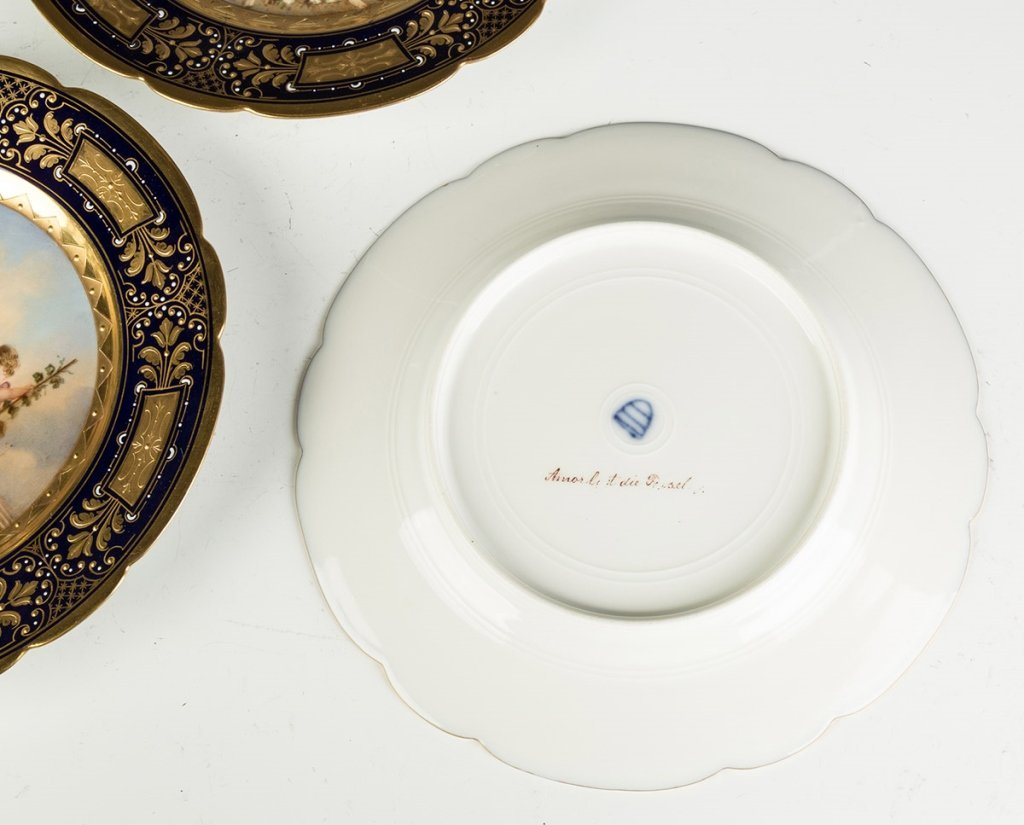 Vienna Porcelain Compotes and Plates - 6