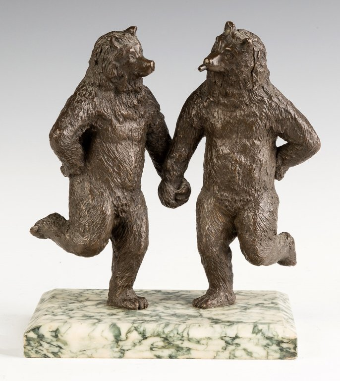 Bronze Dancing Bears, Attributed to Christophe  Fratin