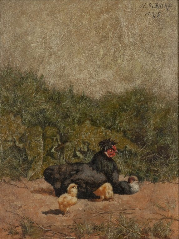 Two William Baptiste Baird (American, 1847-1917)  Hen - 2