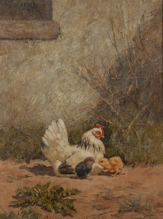 Two William Baptiste Baird (American, 1847-1917)  Hen - 5