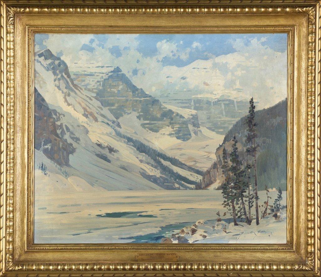 "Belmore Browne (American, 1880-1954) ""Lake Louise,"