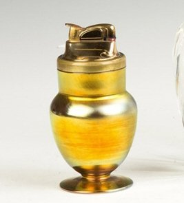 Steuben Gold Aurene Cigarette Lighter