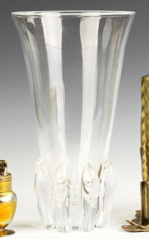 Tall Steuben Crystal Vase