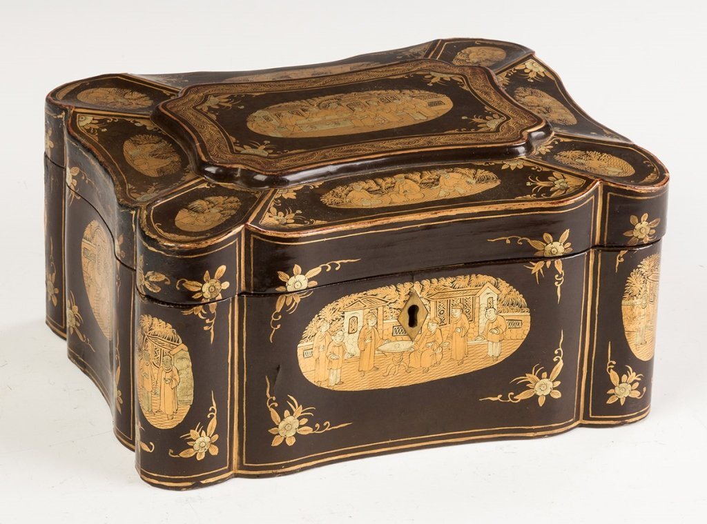 Japanese Lacquered Tea Caddy