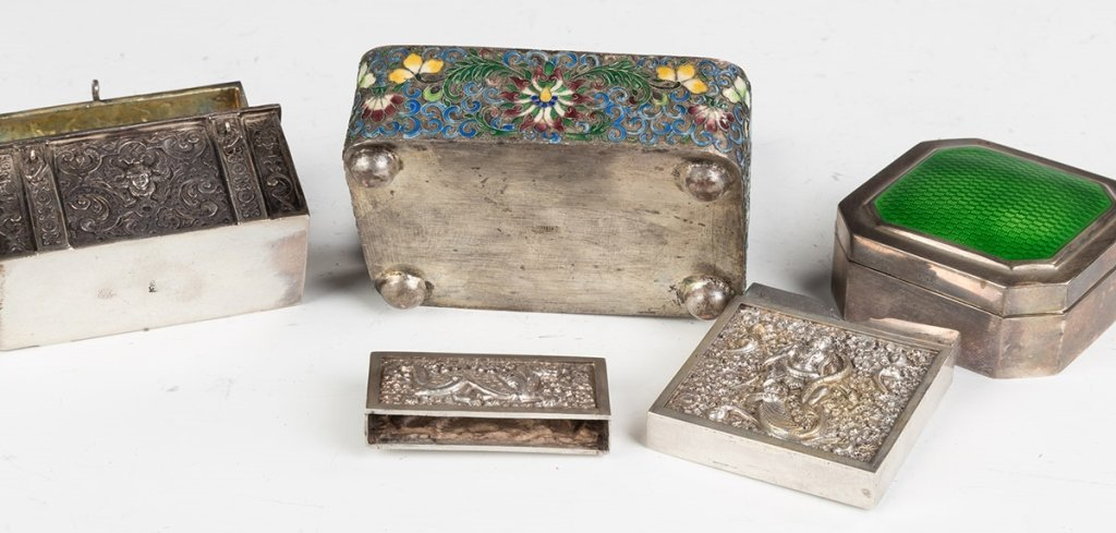 Group of Various Silver Boxes - 2