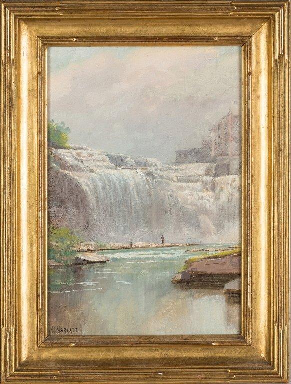 H.I. Marlatt Pastel, Falls Rochester, NY