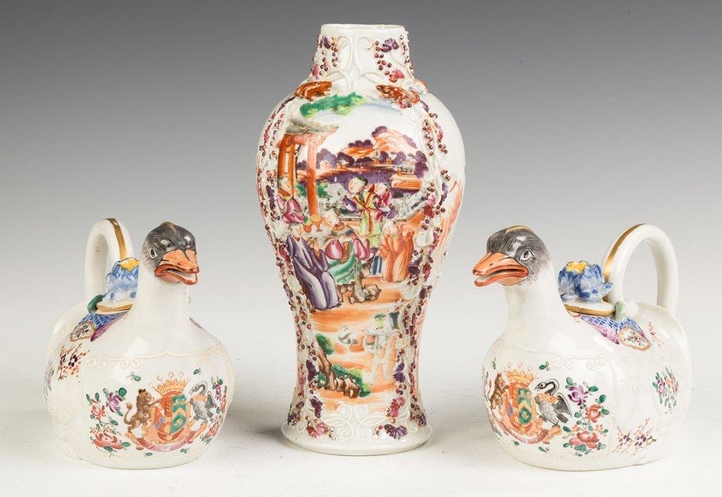 Samson Ware Hand Painted Porcelain Sauce Tureens