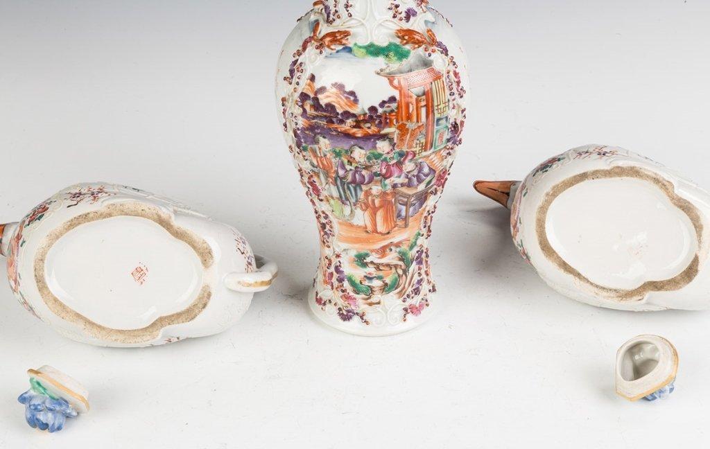 Samson Ware Hand Painted Porcelain Sauce Tureens - 2