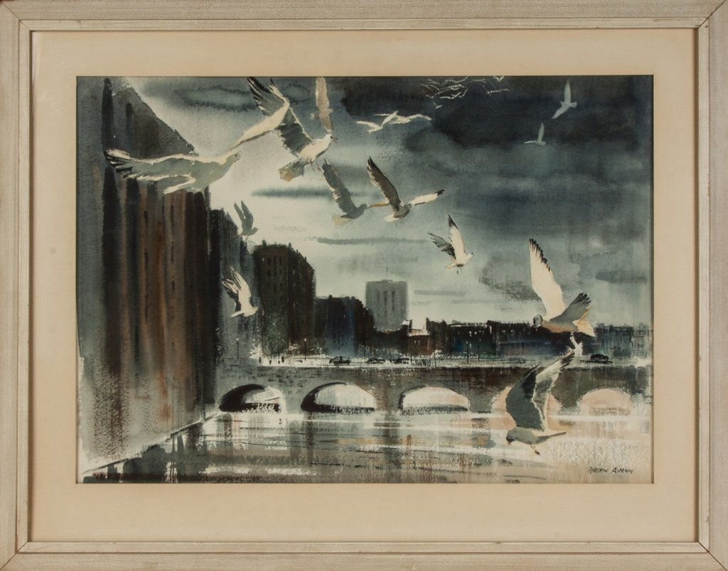 "Ralph Avery (American, 1906-1976) ""Gulls and the"