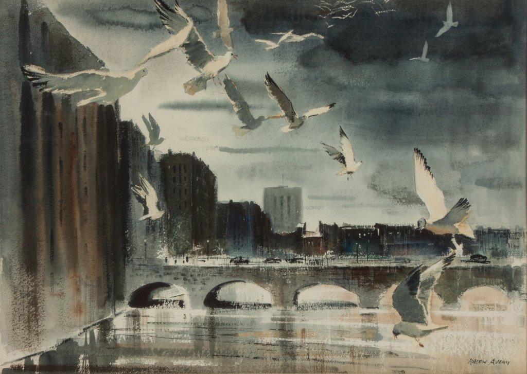 "Ralph Avery (American, 1906-1976) ""Gulls and the - 2"