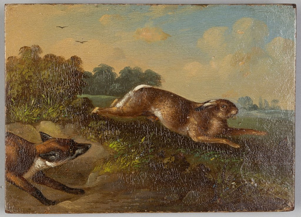 Pair 19th Century Paintings on Wood Panel - 3
