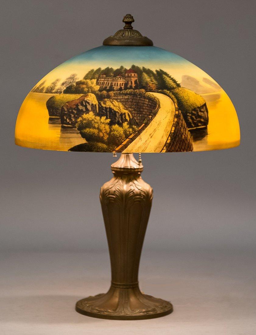 Phoenix Reverse Painted Table Lamp