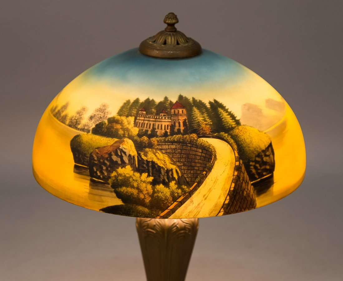 Phoenix Reverse Painted Table Lamp - 2