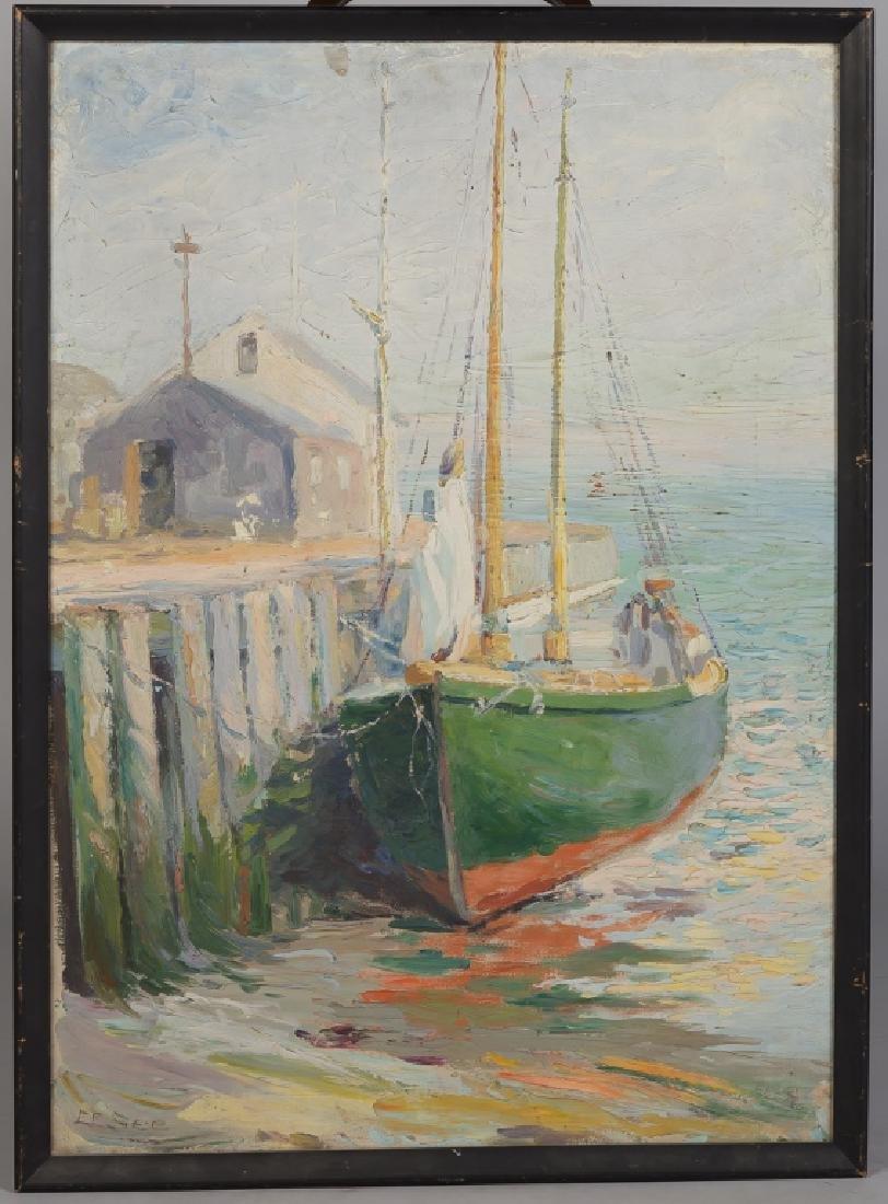 """Ella E. See (American, 1866-1925) """"The Green Boat"""""""