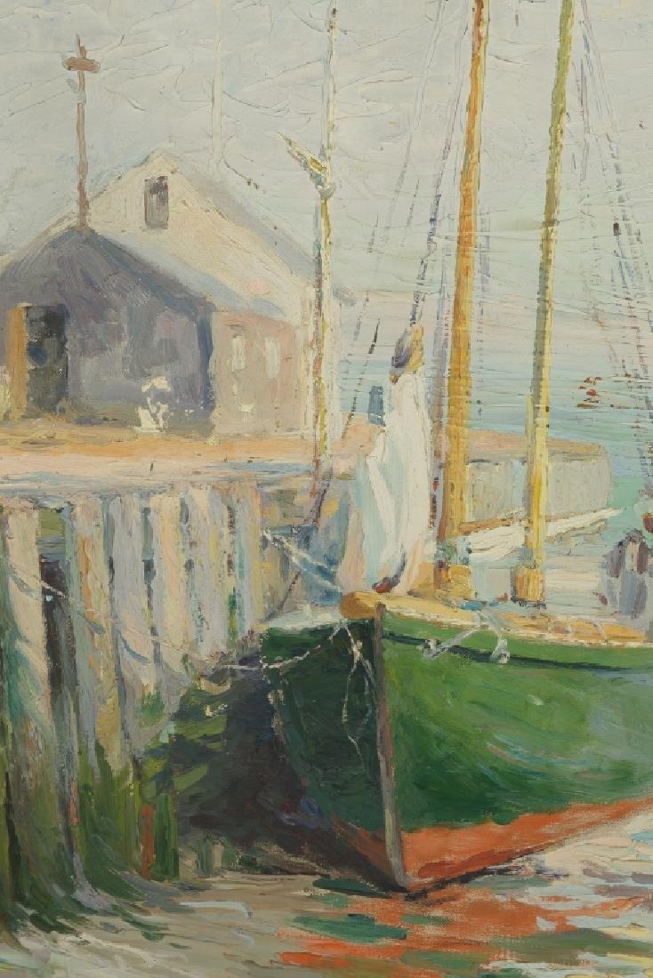 """Ella E. See (American, 1866-1925) """"The Green Boat"""" - 2"""