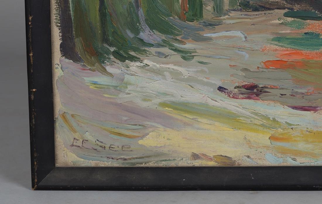 """Ella E. See (American, 1866-1925) """"The Green Boat"""" - 3"""