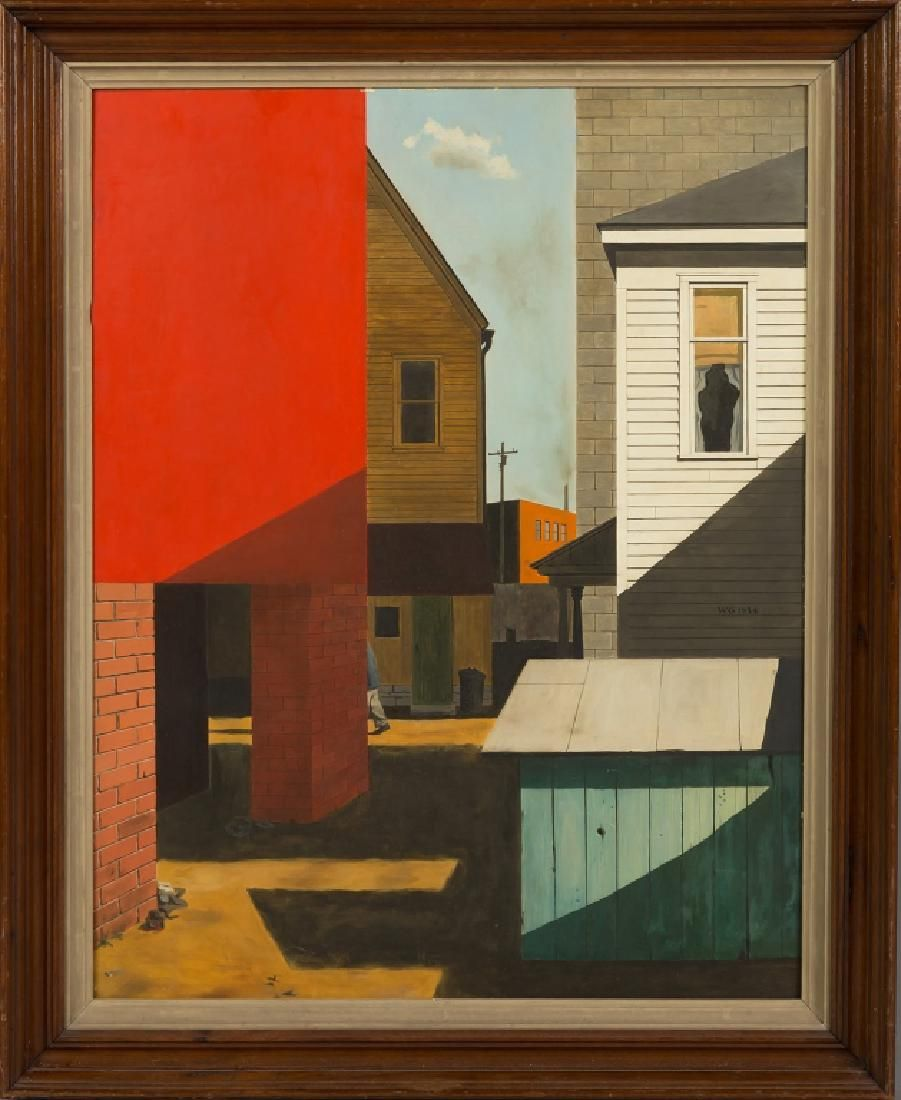 Walter Garver (American, born, 1927) Modern Street