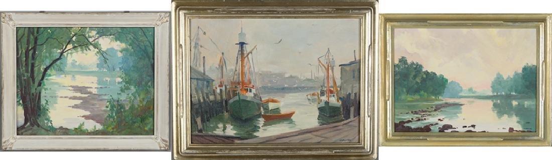 Clifford Ulp (American, 1885-1957) 3 Paintings