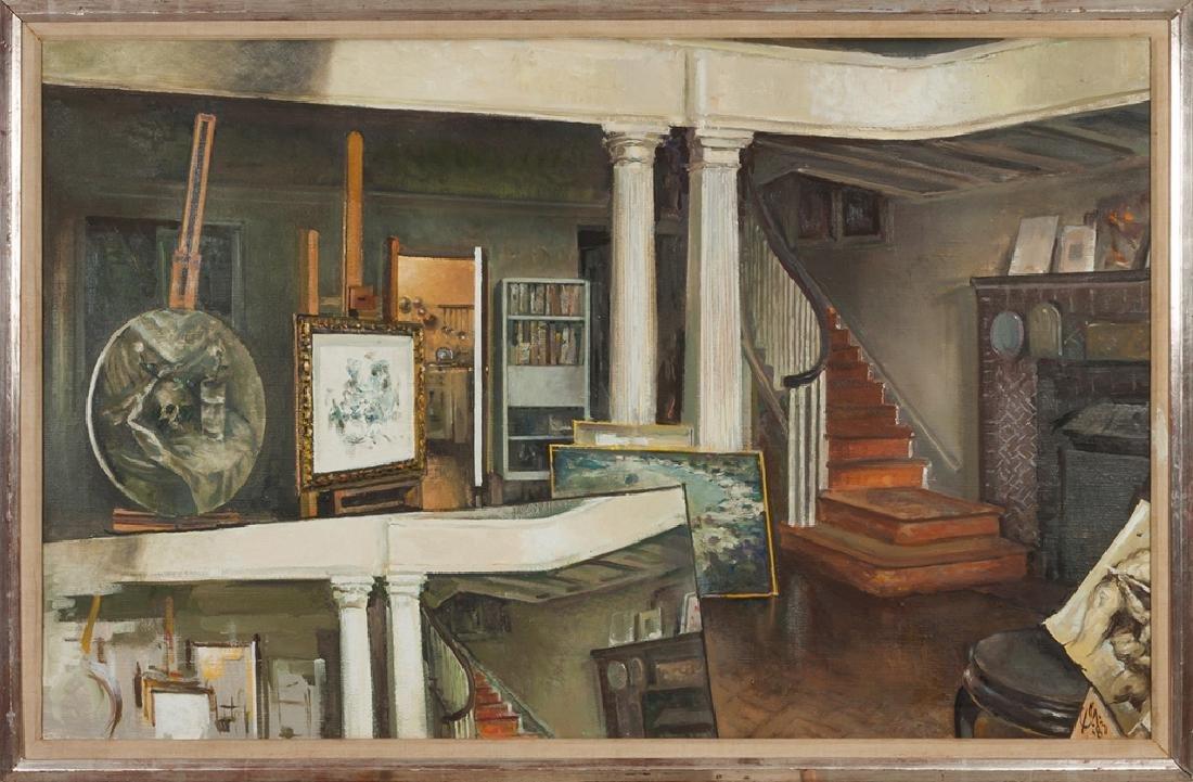 """Xavier Gonzalez (American, 1898-1993) """"Studio"""""""
