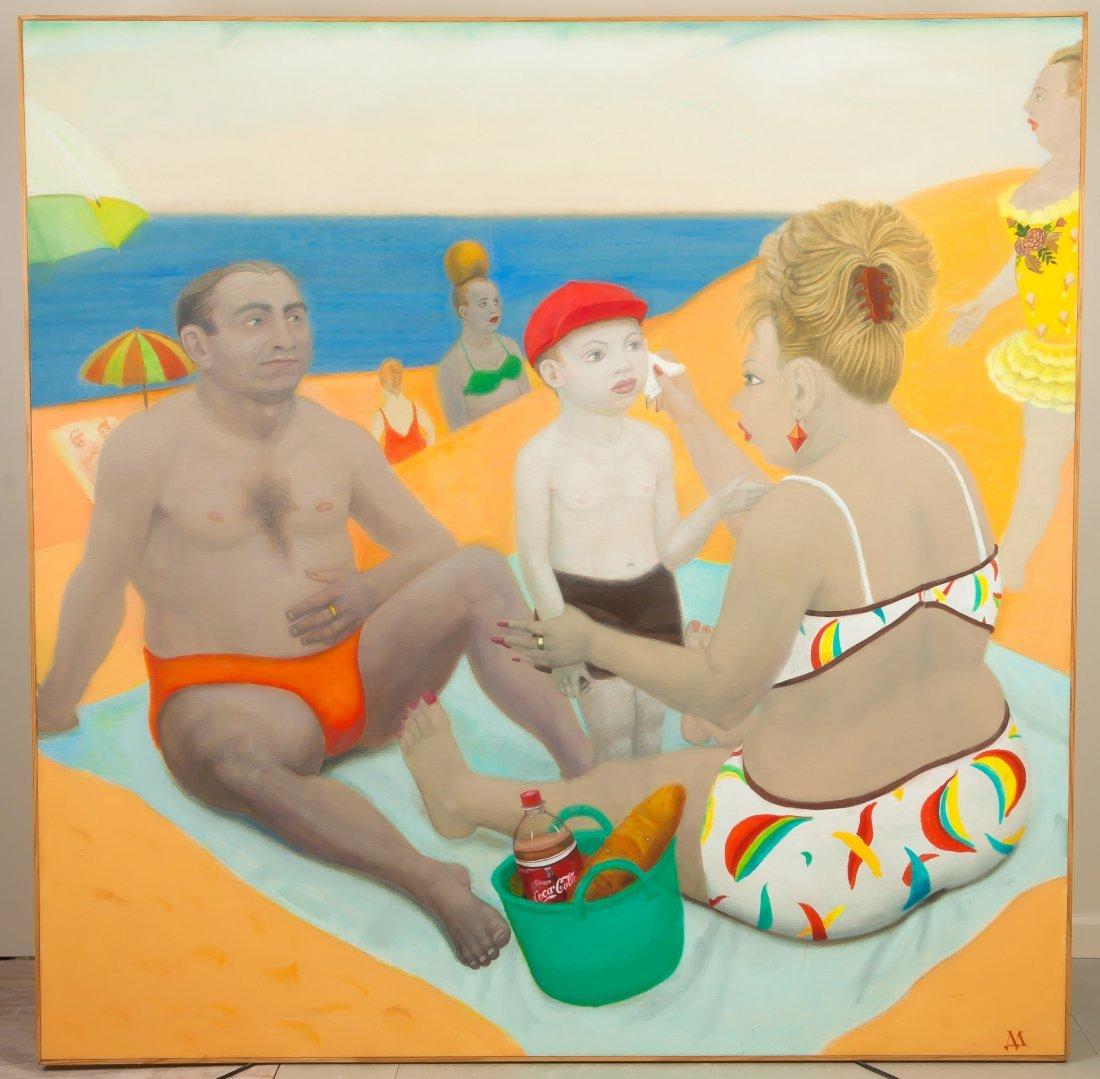 "David Miretsky (Russian, born 1939) ""On the  Beach"""