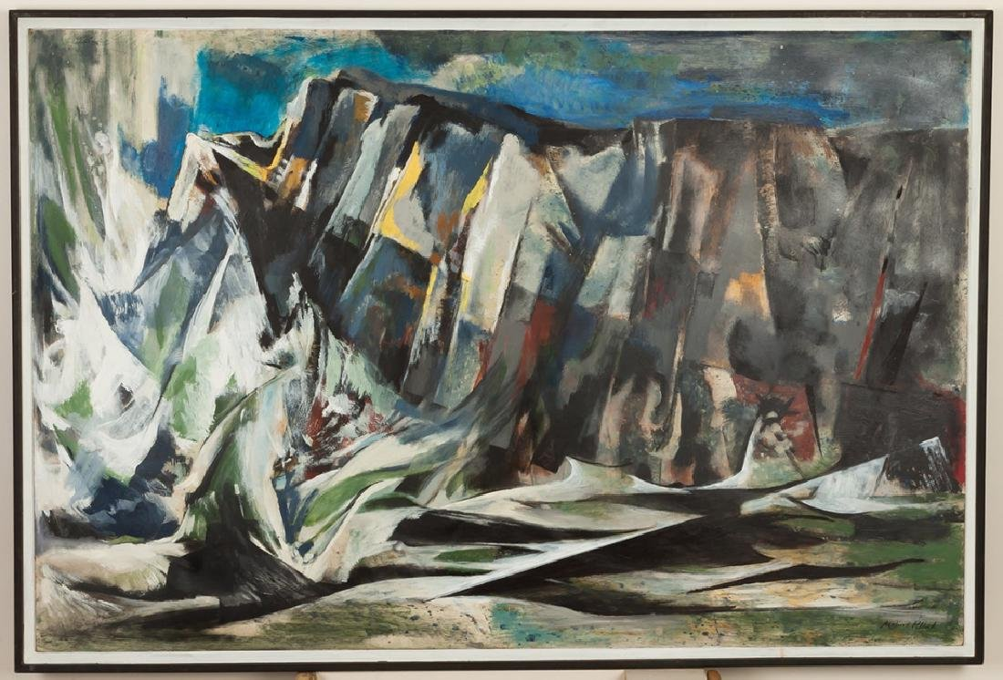"Merlin Pollock (American, 1905-1995) ""Restless  Sea"""