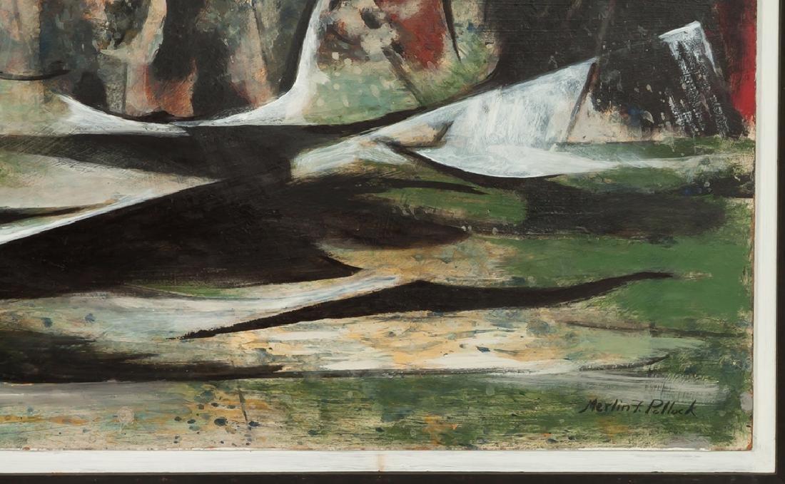 "Merlin Pollock (American, 1905-1995) ""Restless  Sea"" - 2"