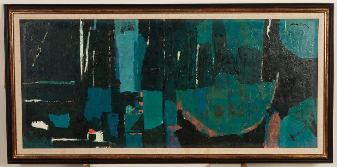 "Gordon Steele (American, 1906-1961) ""Blue  Composition"""