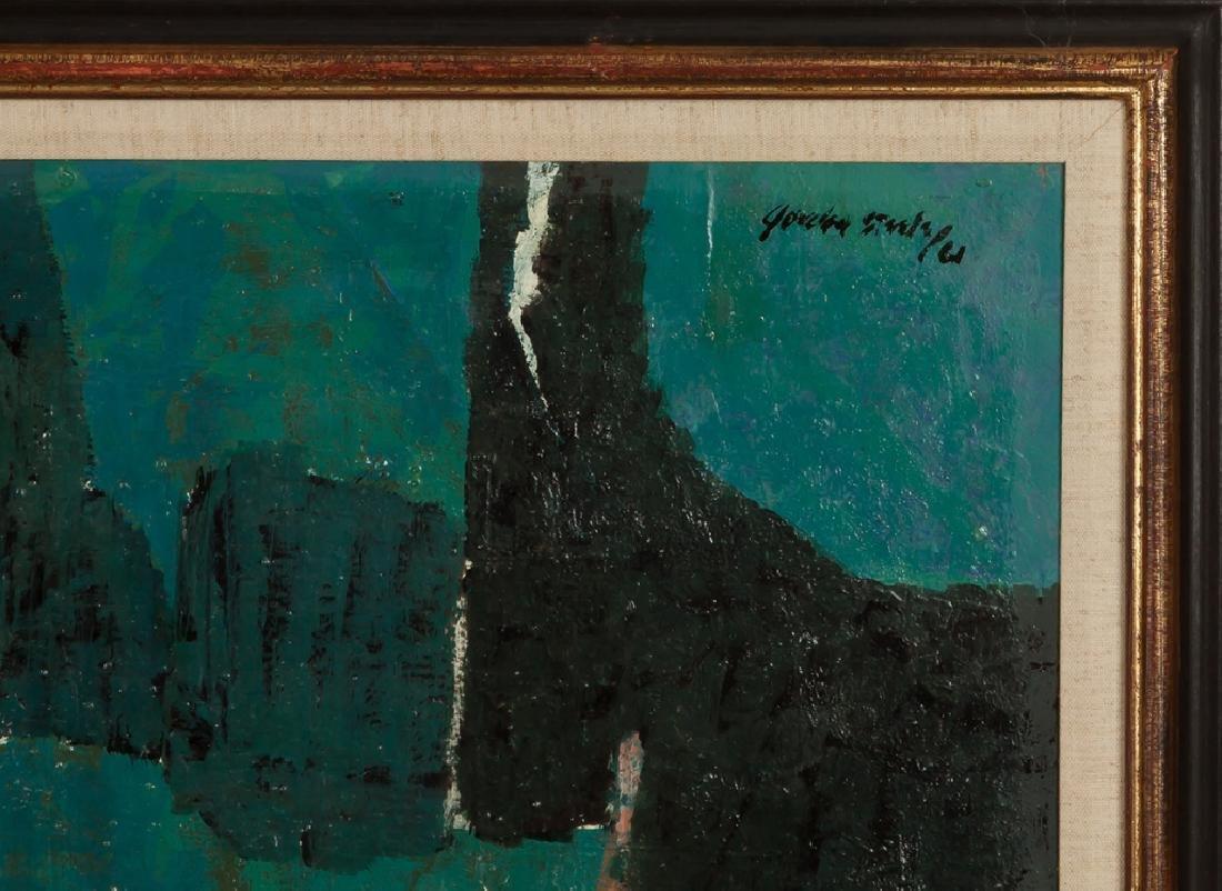 "Gordon Steele (American, 1906-1961) ""Blue  Composition"" - 2"