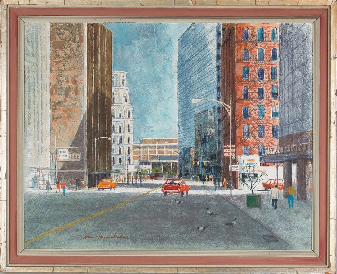John Menihan (American, 1908-1992) Downtown  Rochester