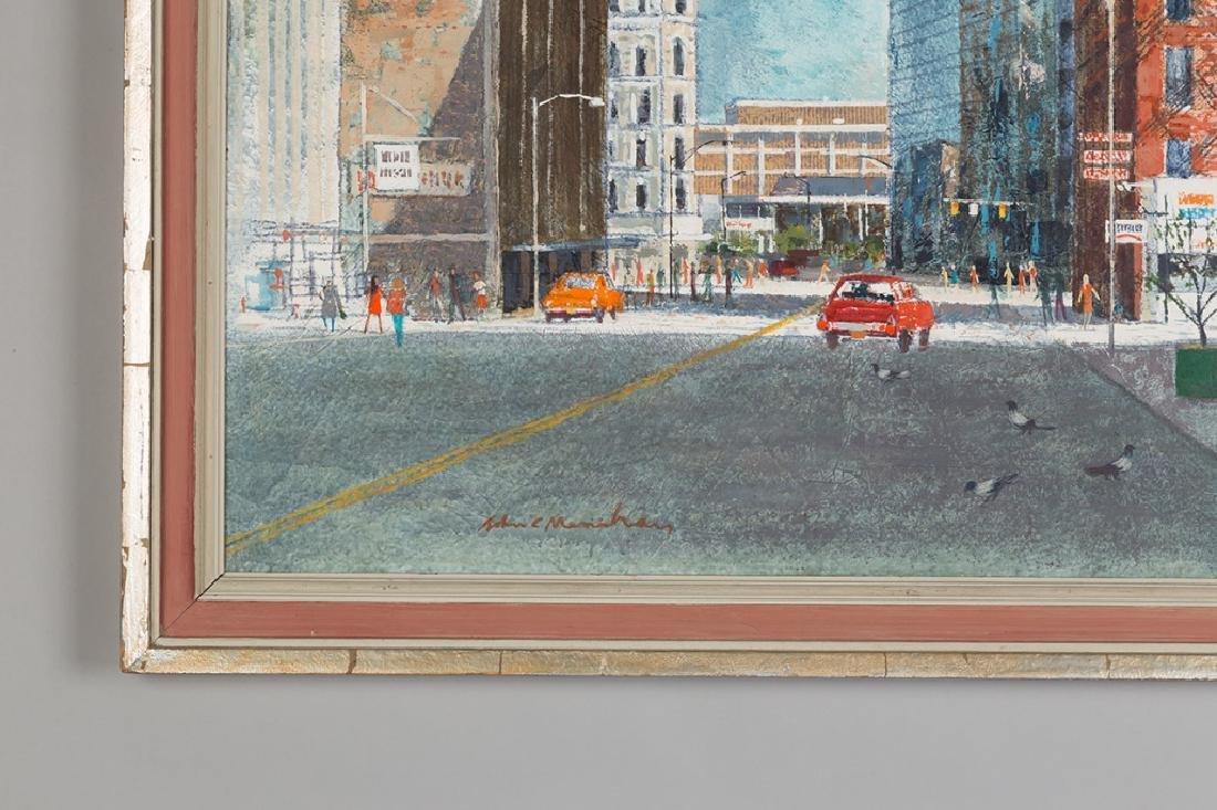 John Menihan (American, 1908-1992) Downtown  Rochester - 2