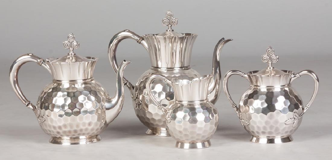 Meriden B Company 4 Piece Silver Plate Tea Set