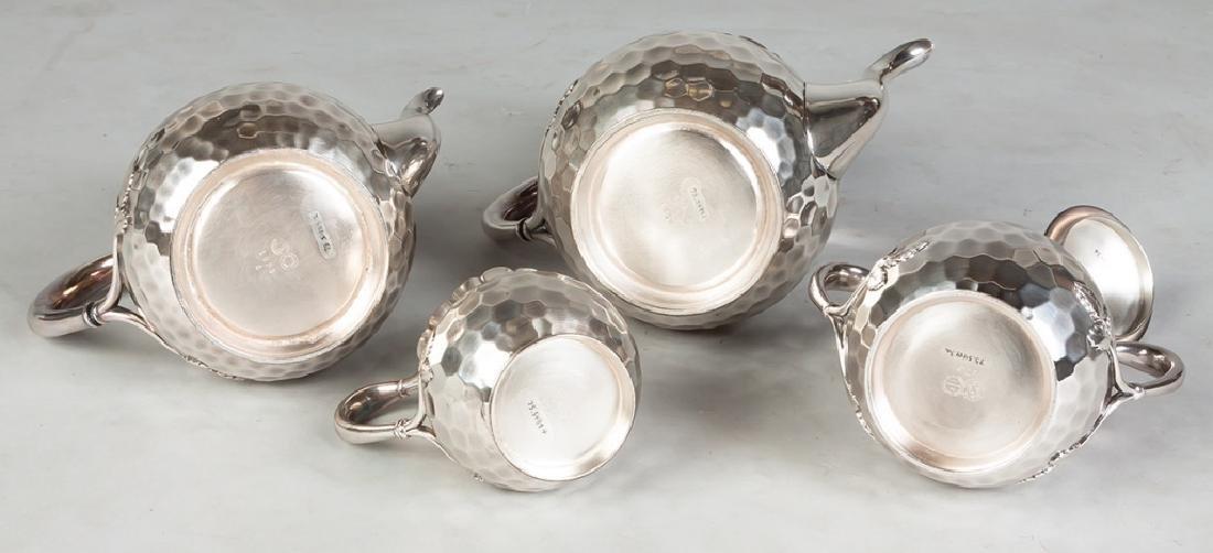 Meriden B Company 4 Piece Silver Plate Tea Set - 2