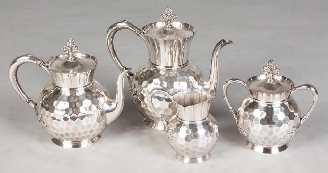Meriden B Company 4 Piece Silver Plate Tea Set - 3