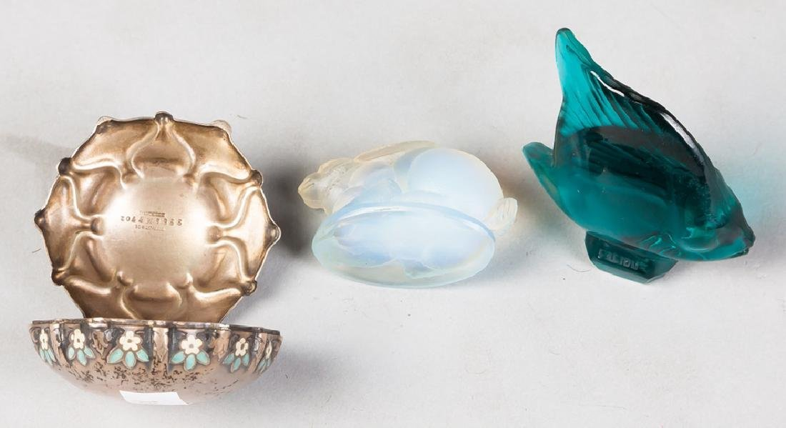 Tiffany & Co. Sterling/Enamel Pill Box and 2  French - 3