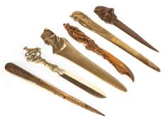 Group of 6 Bronze Letter Openers